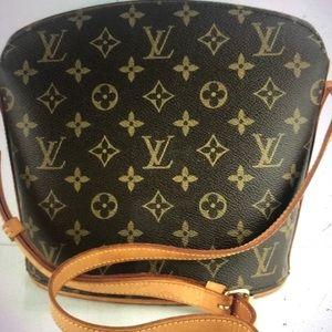 Authentic Louie Vuitton Drouot shoulder bag